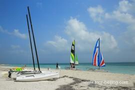 古巴美丽的巴拉德罗海滩