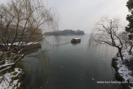 冬季,漫步西湖苏堤
